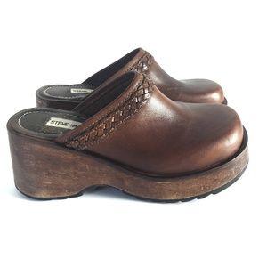 Steve Madden Clogs Vintage Leather Sandals Size 8